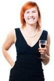 Femme de beauté avec le champagne Photos libres de droits