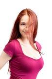 Femme de beauté avec le cheveu juste Photo libre de droits