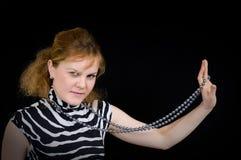 Femme de beauté avec un bijou Photographie stock libre de droits