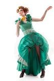 Femme de beauté dans la robe démodée Photographie stock