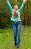 Femme de beauté en automne Photos libres de droits