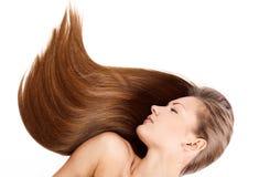 Femme de beauté. long cheveu Images stock