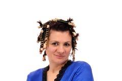 femme de bigoudis Photo stock