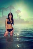 Femme de bikini Photographie stock