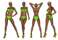 Femme de bikini d'Afro-américain Photographie stock