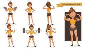 Femme de bodybuilding illustration stock