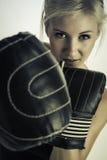 Femme de boxe photographie stock libre de droits