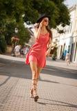 Femme de brune de Fashionbale photographie stock libre de droits