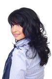 Femme de brunette de coiffure Images stock