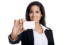 Femme de Businesscard images stock