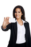 Femme de Businesscard images libres de droits