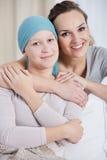 Femme de Cancer et soeur de soin Images libres de droits
