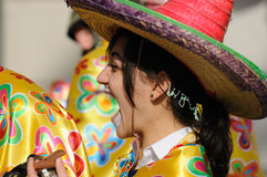 Femme de carnaval. Images libres de droits
