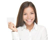 Femme de carte de visite professionnelle de visite image libre de droits