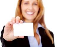 Femme de carte de visite professionnelle de visite image stock