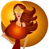 Femme de Caucasien de mode d'automne Image stock