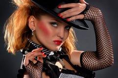 femme de chapeau d'élégance Images libres de droits