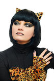 Femme de chat photo stock