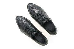femme de chaussures en cuir Photographie stock