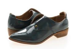 femme de chaussures en cuir images stock