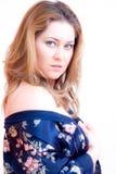 Femme de chemise de nuit Photographie stock libre de droits