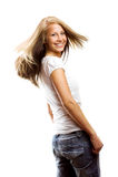 femme de cheveu de vol Photo libre de droits