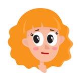 Femme de cheveux assez blonds, expression du visage neutre Image libre de droits