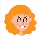 Femme de cheveux assez blonds, expression du visage riante illustration stock