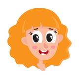 Femme de cheveux assez blonds, wouah expression du visage Images libres de droits