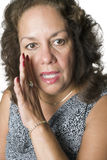 femme de chuchotement de latino Image libre de droits