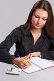 Femme de comptabilité Photos stock