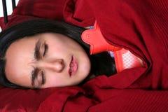 Femme de congélation Image libre de droits