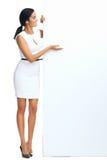 Femme de copyspace d'affaires image libre de droits