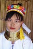 Femme de cou de dong de pia long Photographie stock
