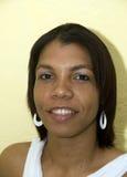 Femme de couleur créole indigène de sourire Nicaragua photo libre de droits