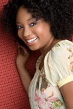 Femme de couleur heureuse images stock