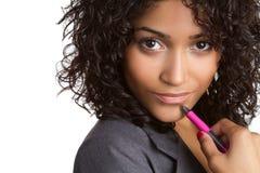 Femme de couleur pensante photos libres de droits