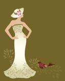 Femme de couture Image stock