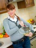 femme de cuisine Photographie stock