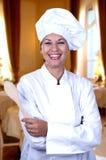 Femme de cuisinier Image stock