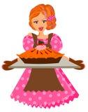 Femme de cuisson Photo libre de droits