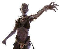 Femme de démon d'isolement sur l'illustration 3D blanche Photographie stock