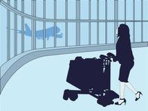 Femme de déplacement Image libre de droits