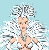 Femme de danseur de samba illustration de vecteur