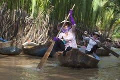Femme de delta de Makong Photo libre de droits