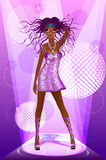 Femme de disco Photographie stock libre de droits