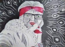 Femme de Fashon avec le ruban rouge illustration stock