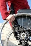 Femme de fauteuil roulant Photo libre de droits