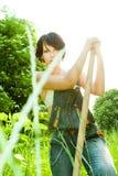 Femme de fermier photos stock