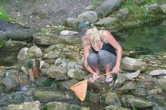 femme de filet de pêche Photographie stock